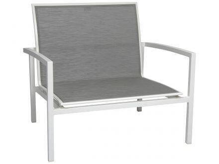 Stern Skelby Lounge-Sessel Aluminium mit Textilenbezug
