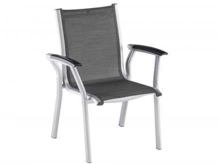 Kettler Avalon Dining-Chair silber-graphit