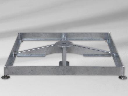 Sockel M4 120kg (ohne Platten) Stahl verzinkt