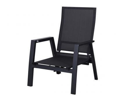 Vorschau: Sitz- und Rückenfläche mit komfortabler Outdoorgewebe-Bespannung