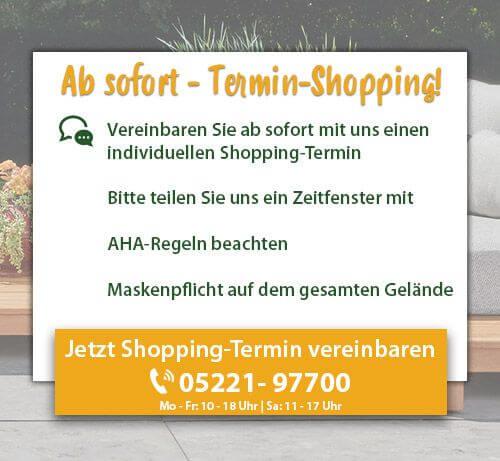 Ab dem 8. März Termin-Shopping