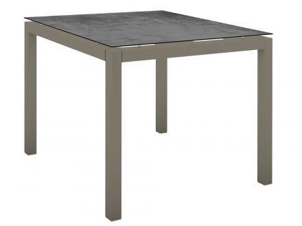 Stern Gartentisch 90x90cm Aluminium taupe/Silverstar 2.0 Zement