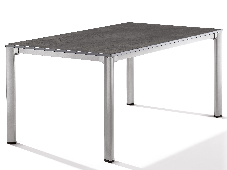 sieger gartentisch loft - 165x95cm - graphit/beton dunkel