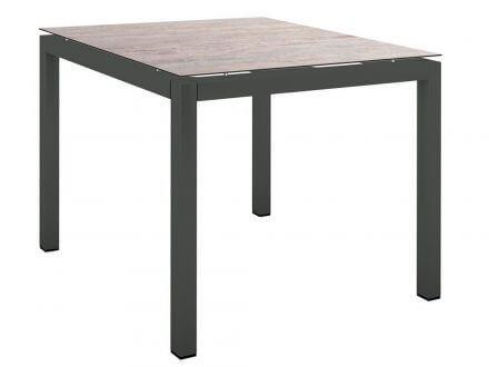 Stern Gartentisch 90x90cm Aluminium anthrazit/Silverstar 2.0 Sand