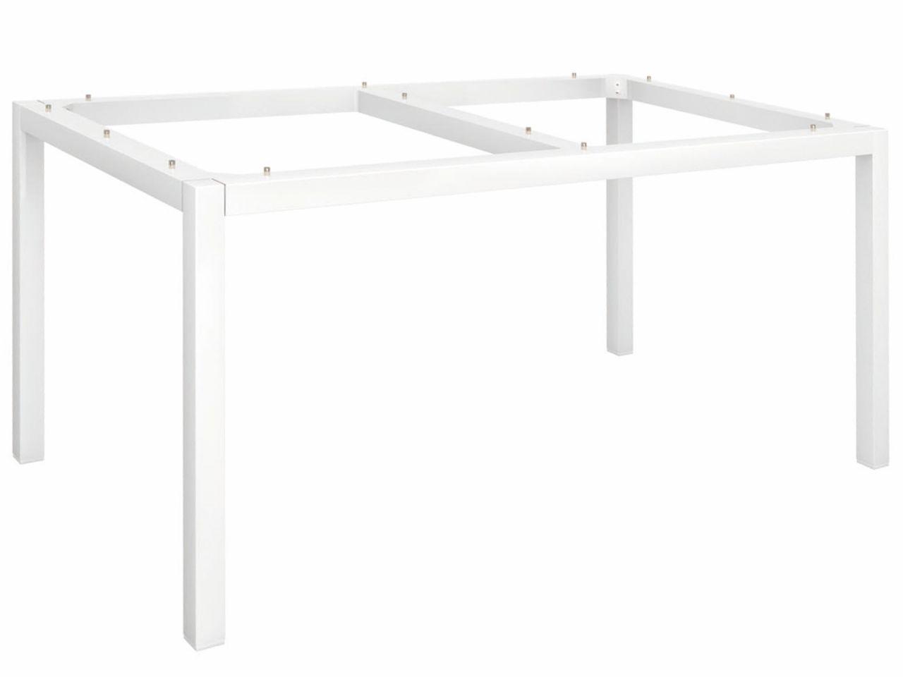 Stern Tischgestell Aluminium Vierkantrohr 130x80cm weiß