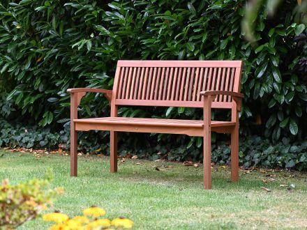 Vorschau: Lünse Holzgartenbank Osaka 118cm 2-Sitzer Imagebild