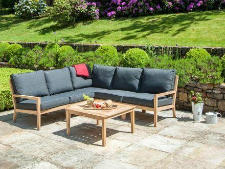Vorschau: Alexander Rose Roble Holz Loungetisch Beistelltisch Tivoli 80x80cm