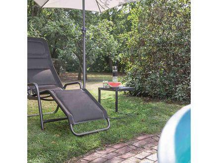 Vorschau: Siena Garden Fano Kippliege Bäderliege anthrazit schwarz