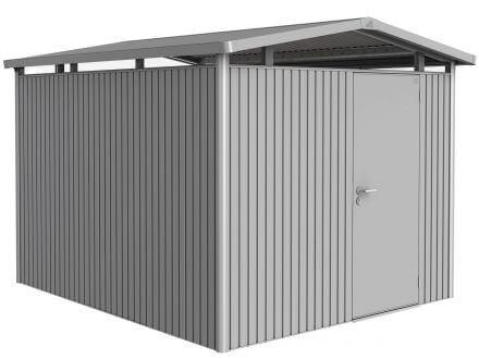 Gerätehaus Panorama® P5 silber-metallic mit Standardtür