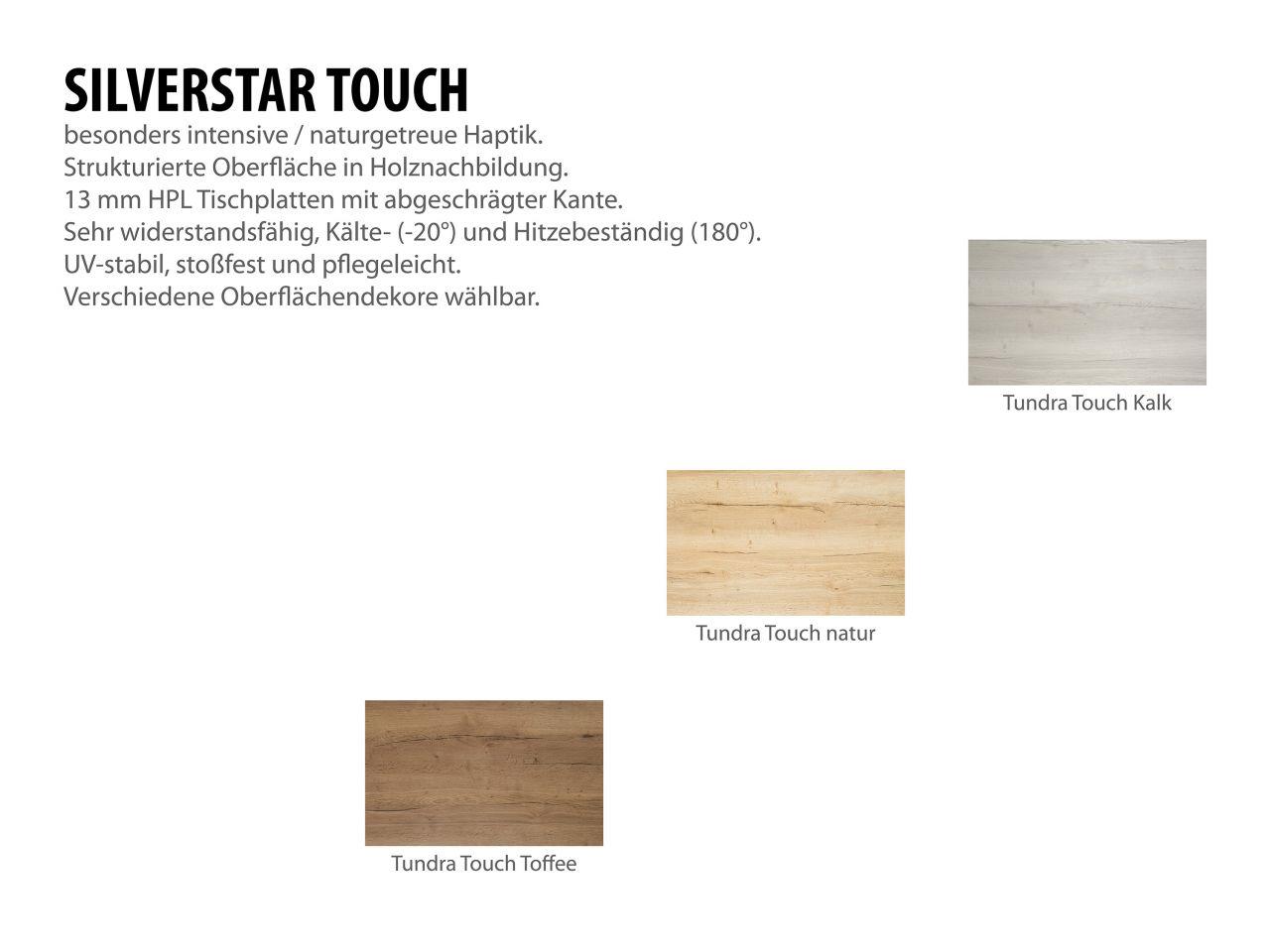 Gartentisch 90x90cm Aluminium weiß/Silverstar 2.0