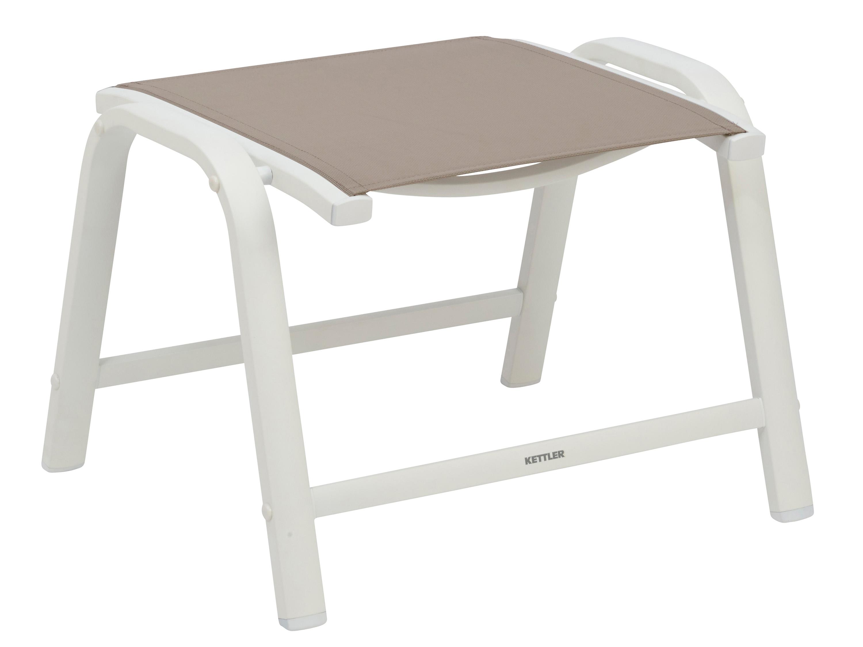 kettler memphis hocker wei beach grey gartenm bel l nse. Black Bedroom Furniture Sets. Home Design Ideas