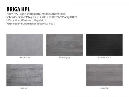 Vorschau: Aluminium HPL Gartentisch Briga 180x100cm silber