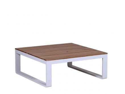 Vorschau: Lünse Alu Holz Loungeset Ecke Lagoni weiß