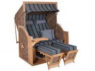 Teak Strandkorb PURE Comfort XL griseum Dessin 423
