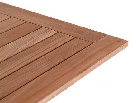 Vorschau: Lünse Teakholz Tischplatte 90x90cm