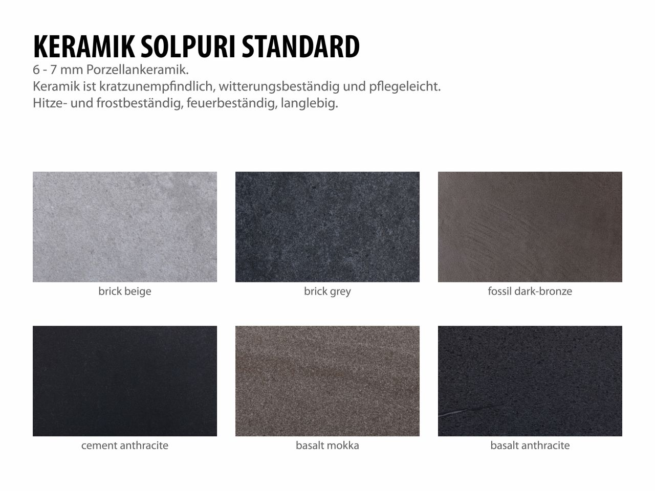 Übersicht Solpuri Standard Keramik