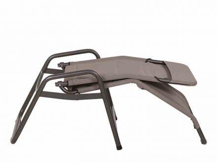Vorschau: Siena Garden Fano Kippliege Bäderliege anthrazit|taupe