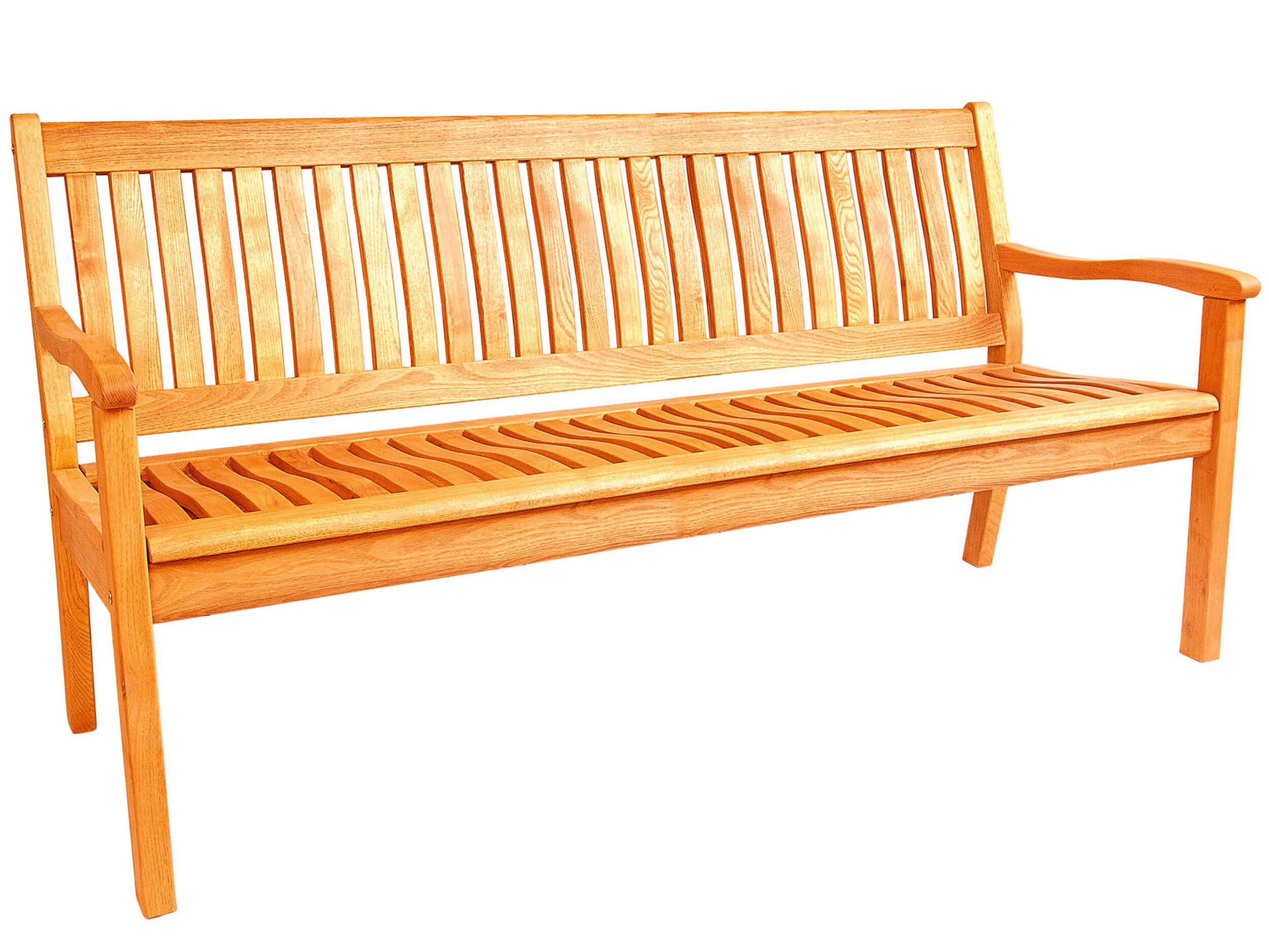 Holz Gartenbank Kansas 160cm 3 Sitzer