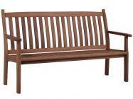 Lünse Holz Gartenbank Marburg 3-Sitzer 165cm