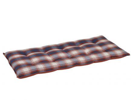 Gartenbank Auflage blau-rot-kariert 110cm
