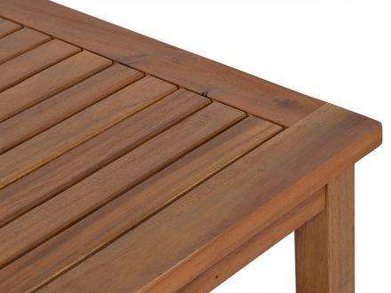 Vorschau: Lünse Holz Beistelltisch Bali mit Ablage 45x45cm
