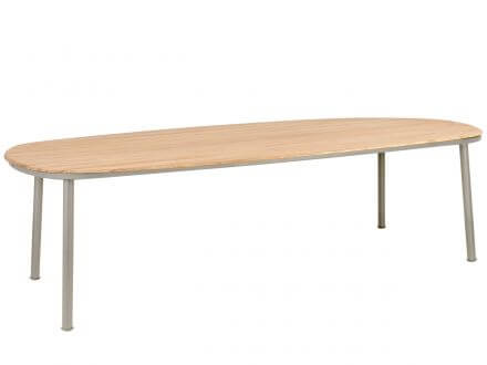 Alexander Rose Alu Gartentisch Cordial beige Roble Tischplatte