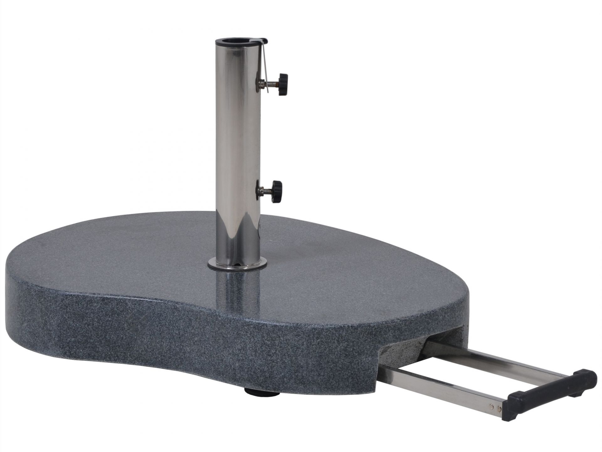 Granit Schirmständer 60kg, Teleskopgriff und Rollen, #20