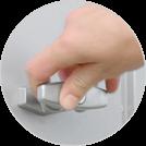 Geräteschrank - mit Drehgriff-Zylinderschloss