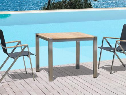 Vorschau: Gartentisch Plaza Ambientebild Beispiel Sitzgruppe mit Stuhl Plaza