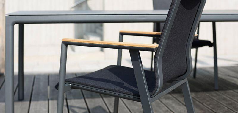 Gartenstühle Metall-Holz