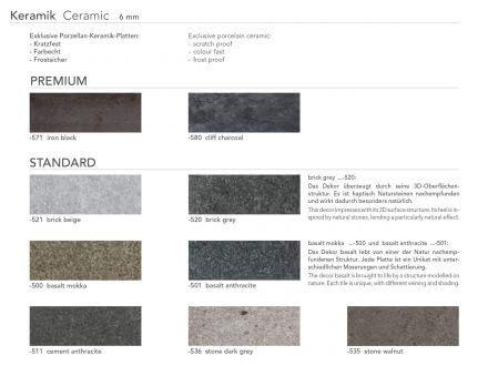 Vorschau: Keramik-Tischplatte, wählbare Dekore