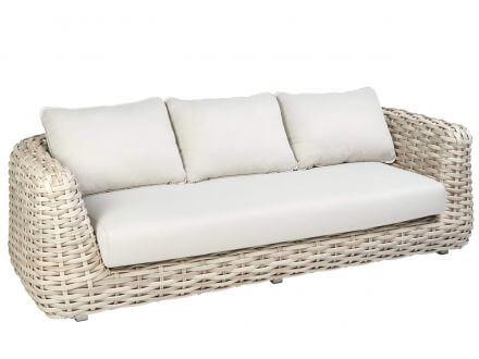 Tierra Outdoor XL Polyrattan Lounge Sofa 3-Sitzer Wakkanda