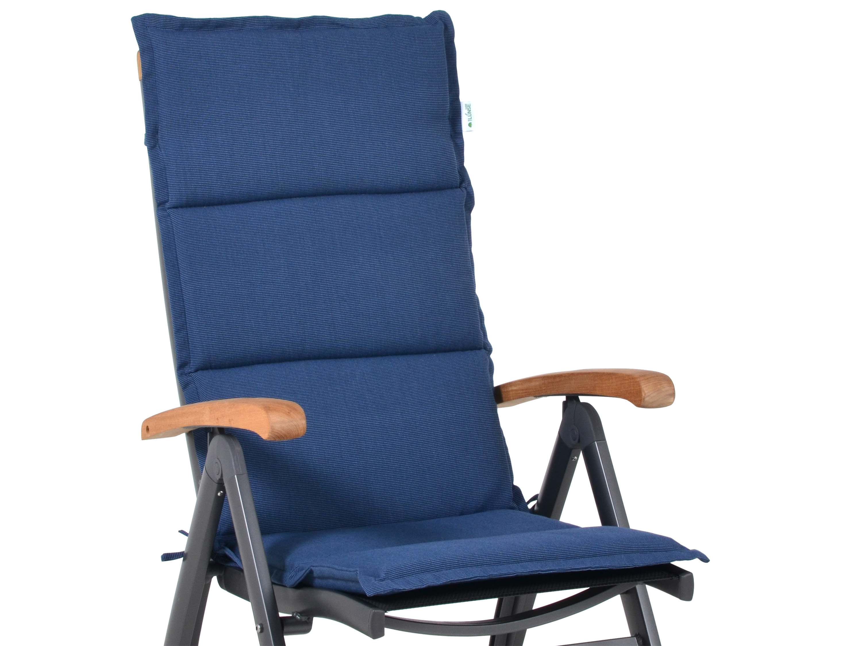 Polsterauflage Malibu für Alu-Hochlehner, Farbe: denim-blue ...