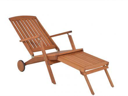Vorschau: Holz Deckchair mit verstellbarer Lehne