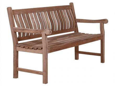 Vorschau: Lünse Teakholz Bank Sterling 150cm 3-Sitzer