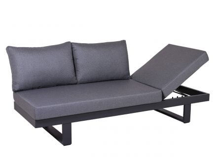 Vorschau: Lünse Multifunktionale Alu Lounge Liege Sofa Vermont
