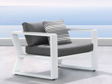 Vorschau: Lünse Alu Loungesessel Lovina white