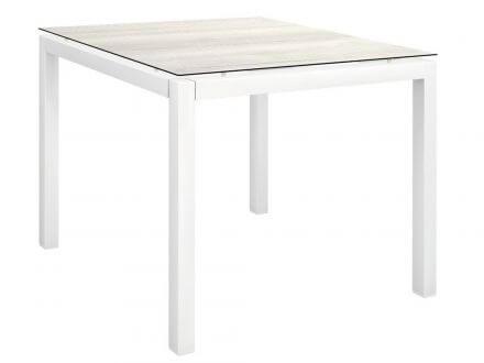Vorschau: Stern Gartentisch 80x80cm Aluminium weiß/Silverstar Touch Tundra Kalk