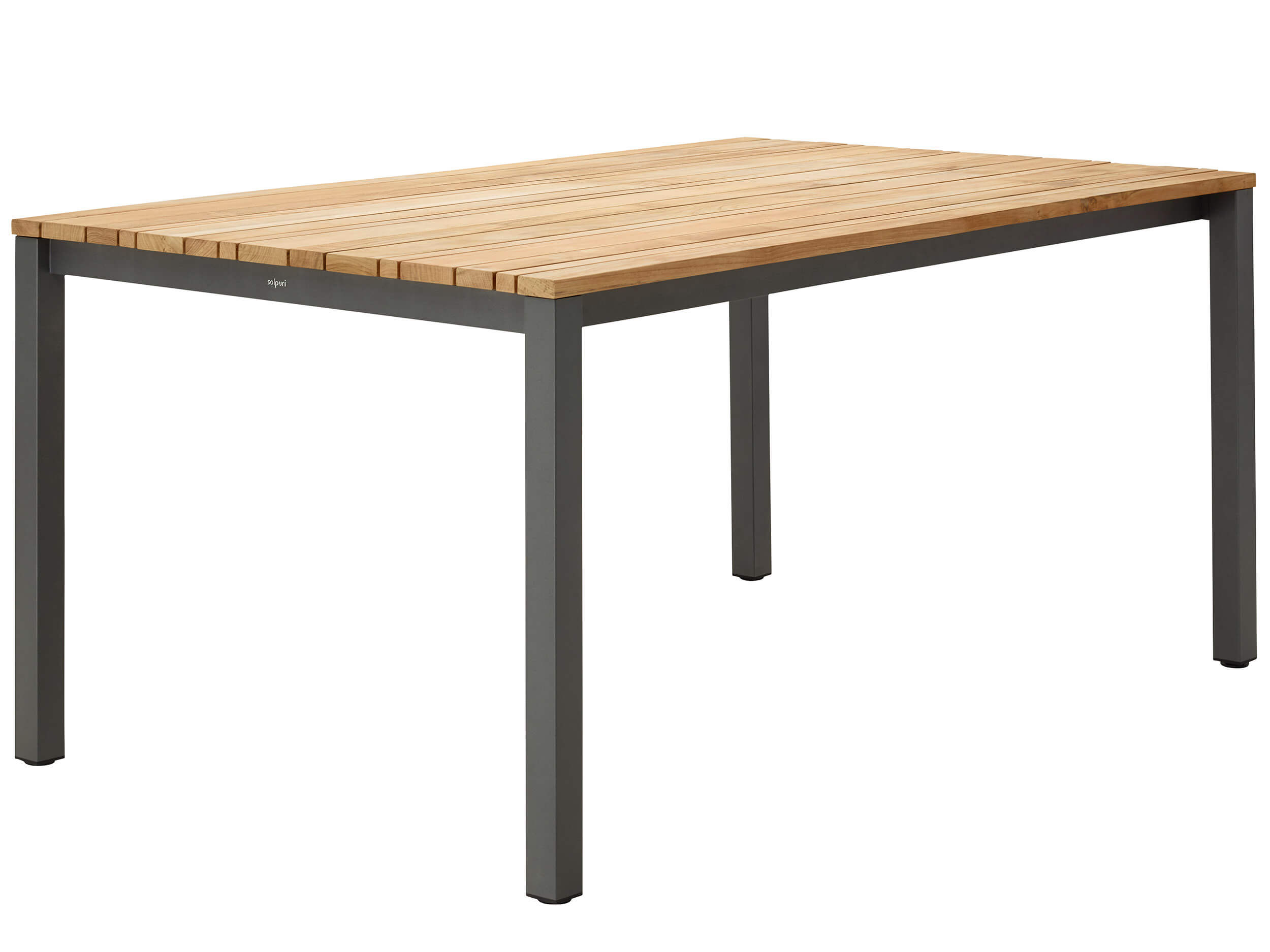 solpuri classic alu dining tisch teak gartenm bel l nse. Black Bedroom Furniture Sets. Home Design Ideas