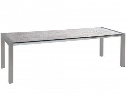 STERN Doppel-Ausziehtisch Standard Alu graphit 174-254x90cm