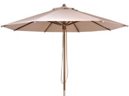 Lünse Teakholz Sonnenschirm Hampton Ø330cm beige