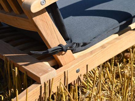 Vorschau: Lünse Auflage für Deckchair Malibu grey