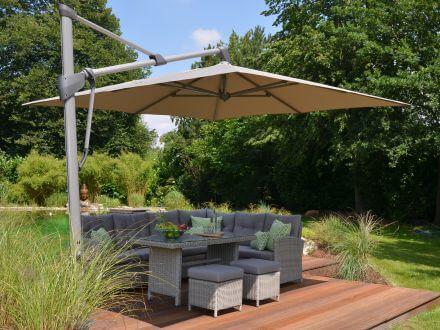 glatz sonnenschirm sombrano s easy 300x300cm. Black Bedroom Furniture Sets. Home Design Ideas