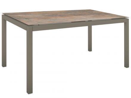 Stern Gartentisch 130x80cm Aluminium taupe/Silverstar 2.0 Ferro