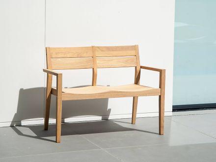 Vorschau: Alexander Rose Roble Holz Gartenbank Tivoli 111cm 2-Sitzer