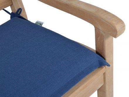 Vorschau: Bankauflage Malibu, Strukturpolyester Farbe: denim blue
