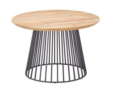 solpuri Grid Lounge- und Beistelltisch Alu Teak