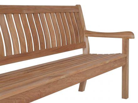 Vorschau: Gartenbank mit ergonomisch geformter Sitz- und Rückenfläche