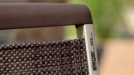 Sieger Royal Detailbild - Rückenabschluss Aluminium-Druckguss