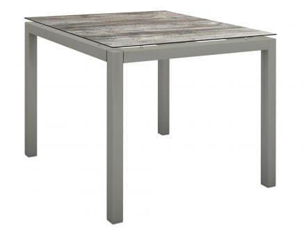 Stern Gartentisch 80x80cm Aluminium graphit/Silverstar 2.0 Tundra grau